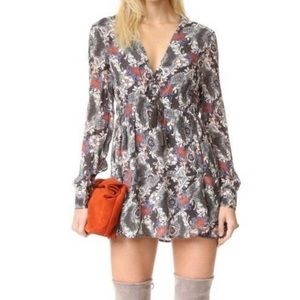 Free People stealing fire floral tunic dress